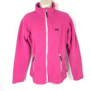 3/$30 Helly Hansen Pink Zip Up Fleece Sweater L